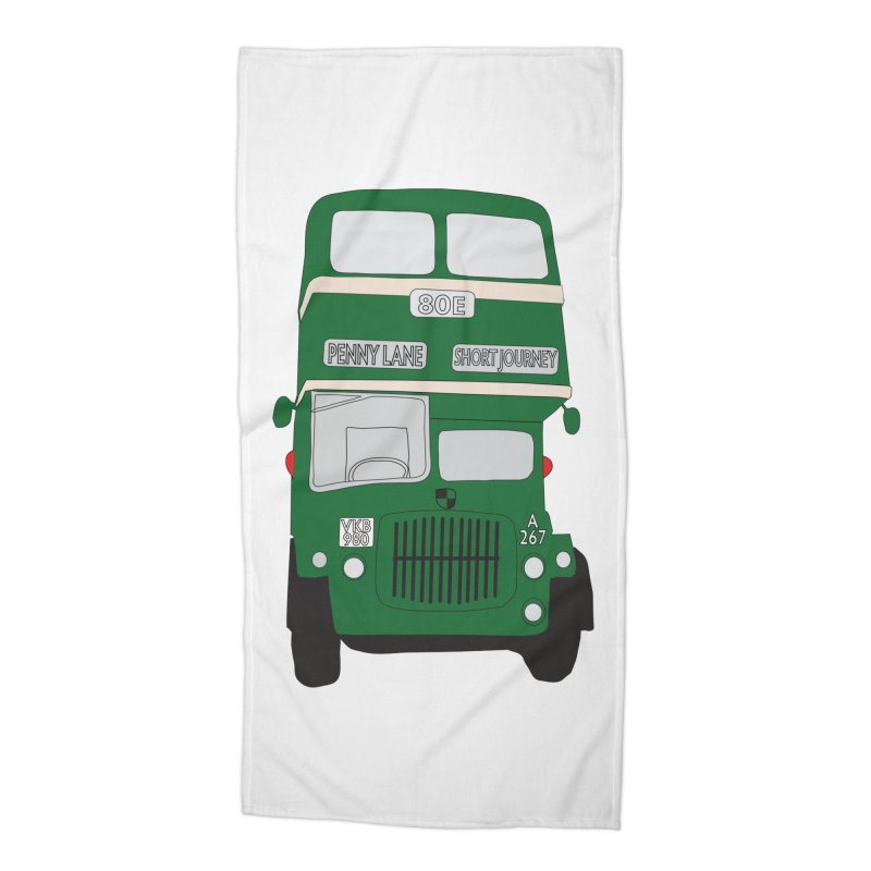 Penny Lane Liverpool bus Accessories Beach Towel by snapdragon64's Shop