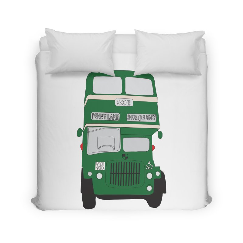 Penny Lane Liverpool bus Home Duvet by snapdragon64's Shop