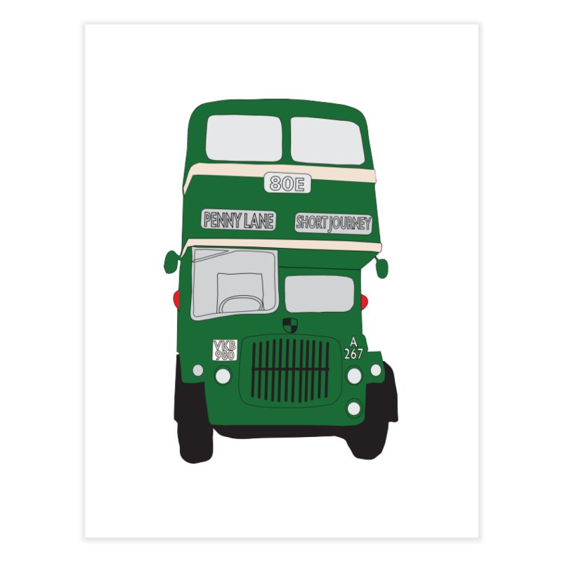 Penny Lane Liverpool bus Home Fine Art Print by snapdragon64's Shop