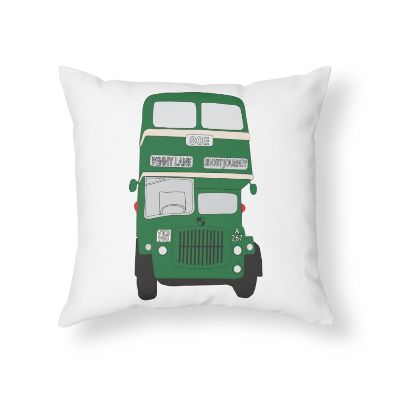 Penny Lane Liverpool bus Home Throw Pillow by snapdragon64's Shop