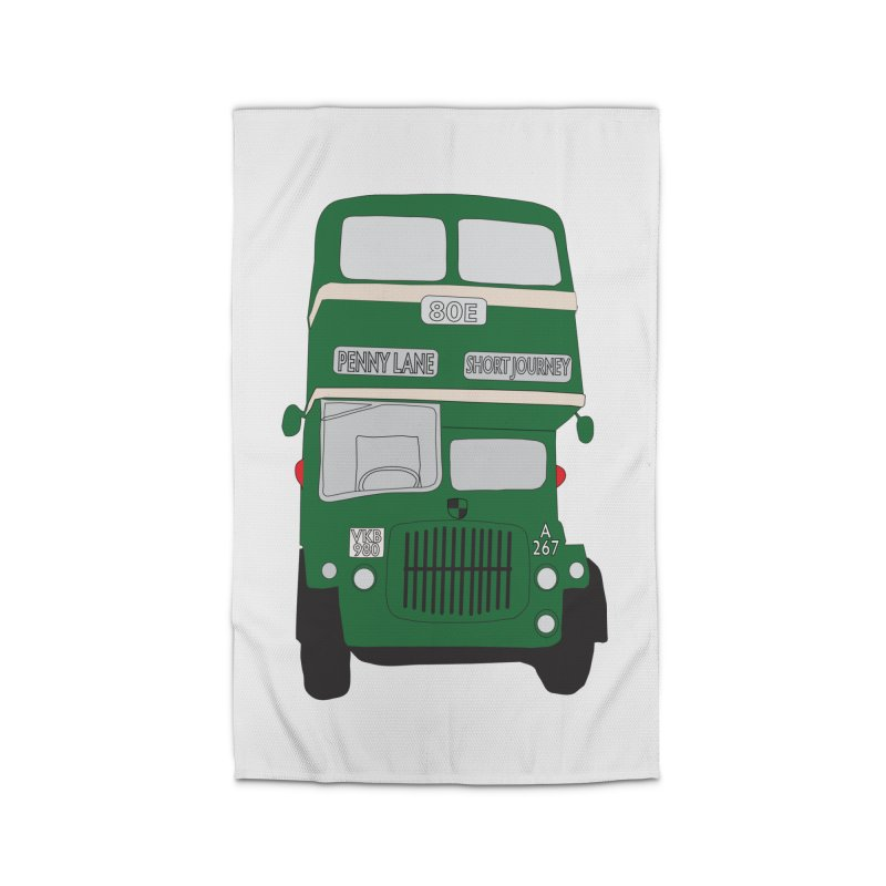 Penny Lane Liverpool bus Home Rug by snapdragon64's Shop