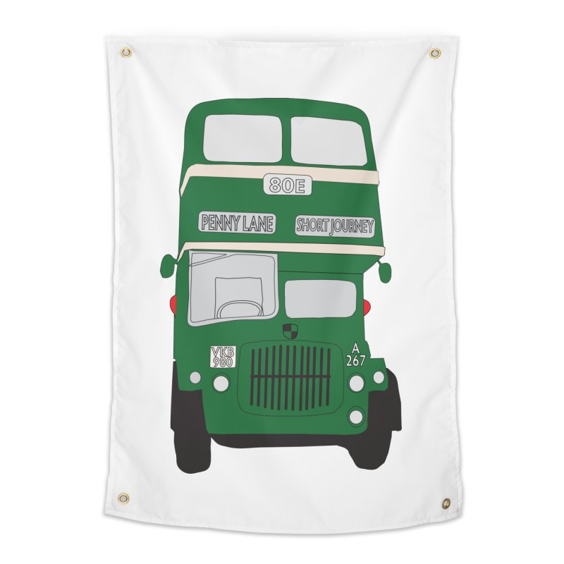 Penny Lane Liverpool bus Home Tapestry by snapdragon64's Shop