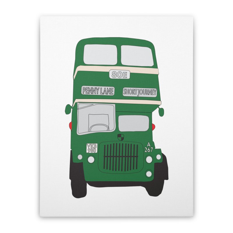 Penny Lane Liverpool bus Home Stretched Canvas by snapdragon64's Shop