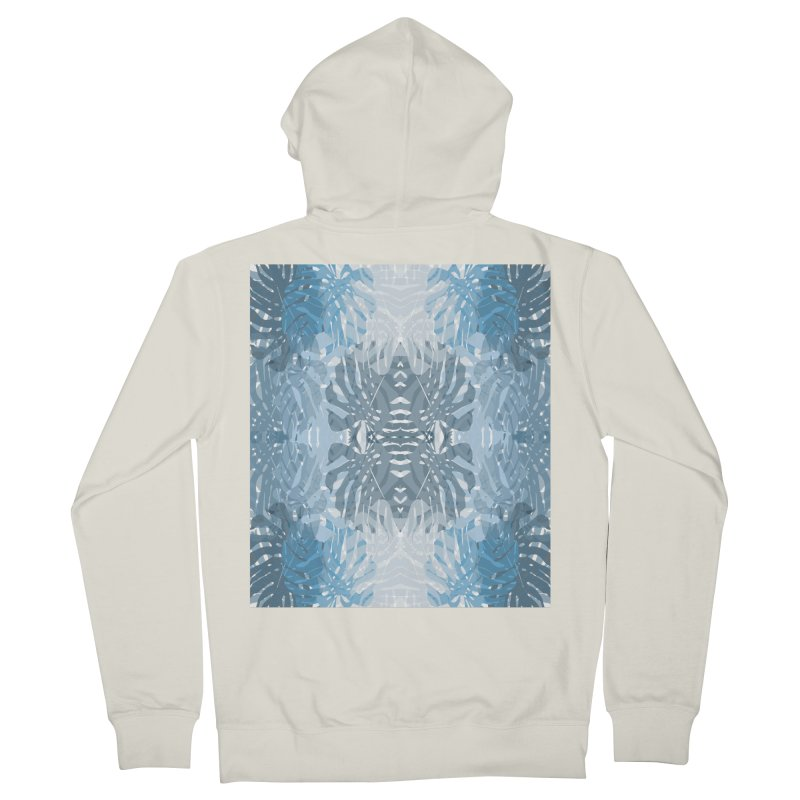 Jungle blues Women's French Terry Zip-Up Hoody by snapdragon64's Shop