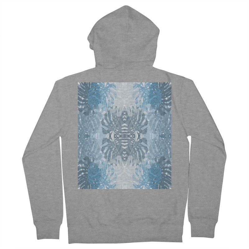 Jungle blues Men's French Terry Zip-Up Hoody by snapdragon64's Shop