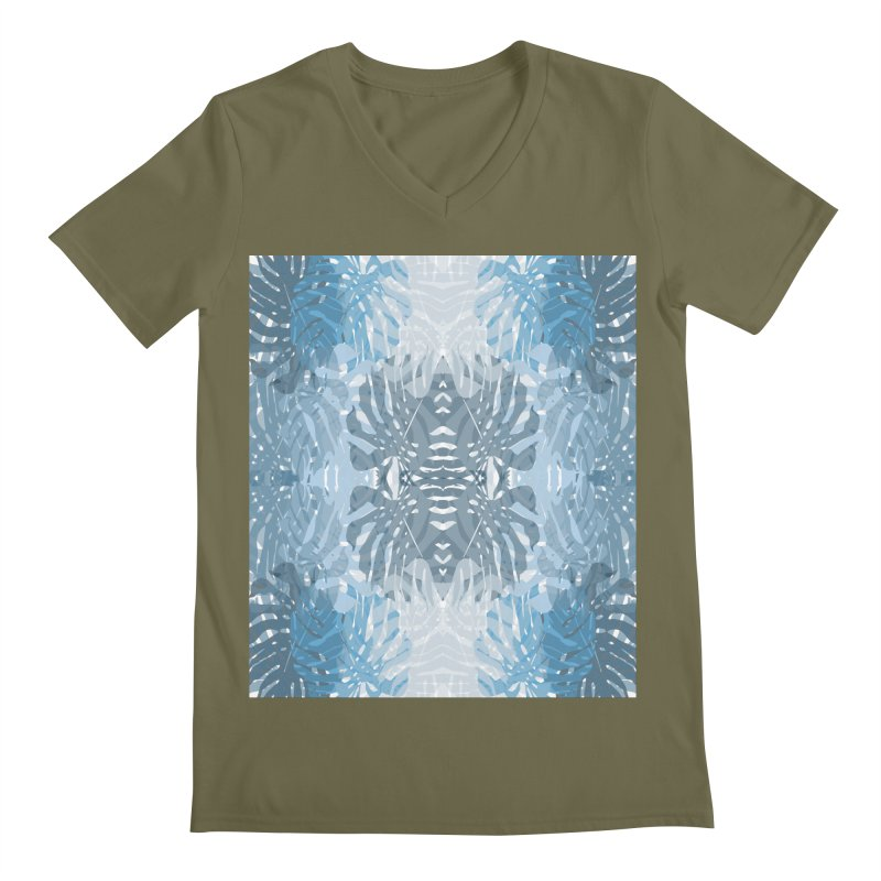 Jungle blues Men's Regular V-Neck by snapdragon64's Shop