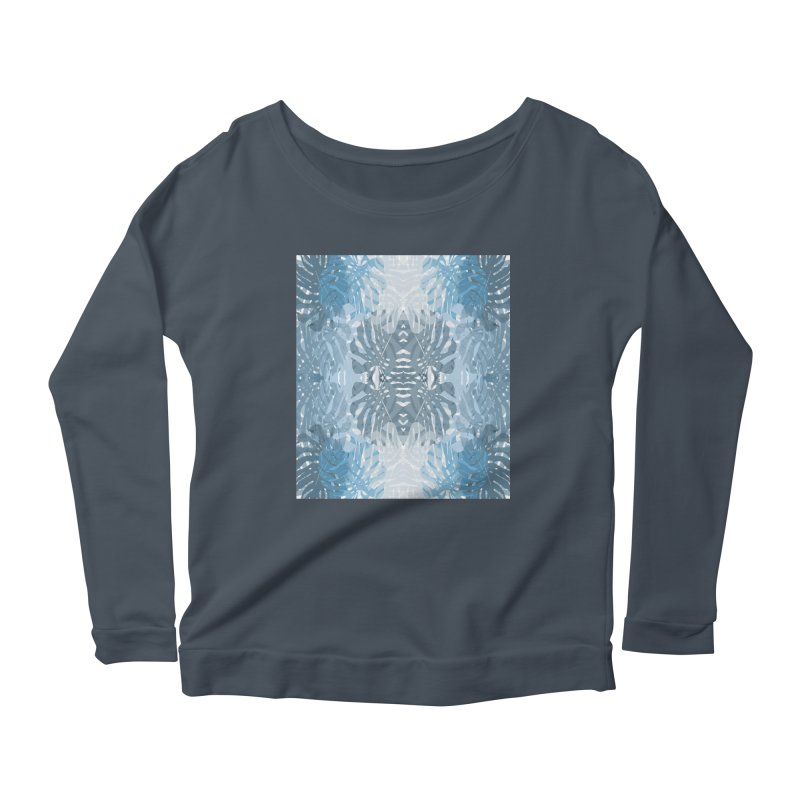 Jungle blues Women's Scoop Neck Longsleeve T-Shirt by snapdragon64's Shop