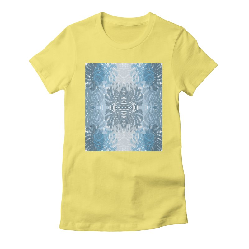 Jungle blues Women's Fitted T-Shirt by snapdragon64's Shop