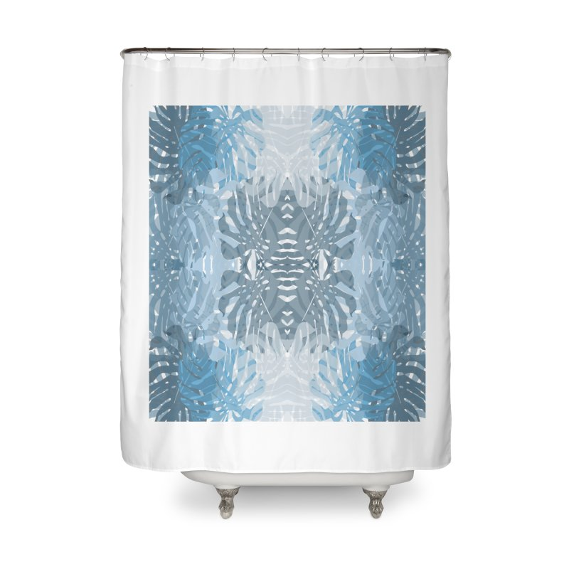 Jungle blues Home Shower Curtain by snapdragon64's Shop