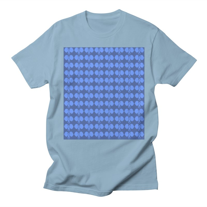 Duo blue shapes Men's Regular T-Shirt by snapdragon64's Shop