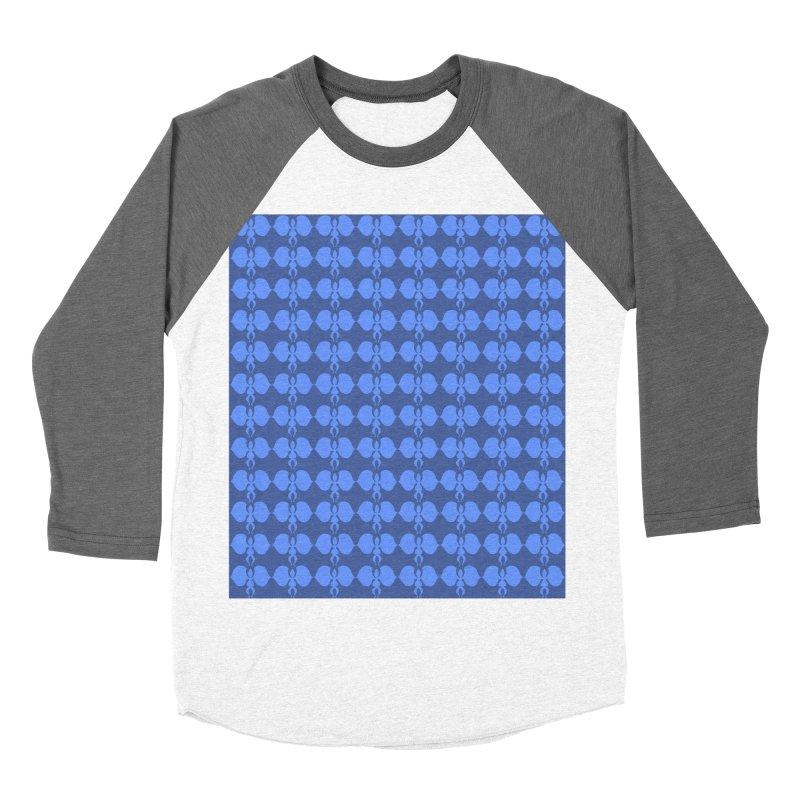 Duo blue shapes Women's Baseball Triblend Longsleeve T-Shirt by snapdragon64's Shop
