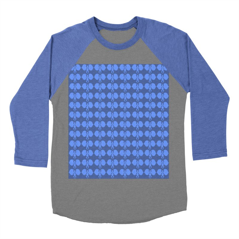Duo blue shapes Women's Baseball Triblend Longsleeve T-Shirt by snapdragon64's Shop