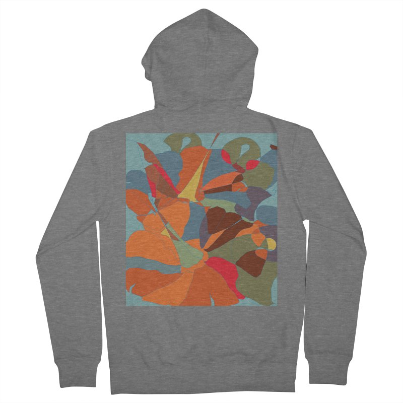 Pumpkin abstract Men's French Terry Zip-Up Hoody by snapdragon64's Shop