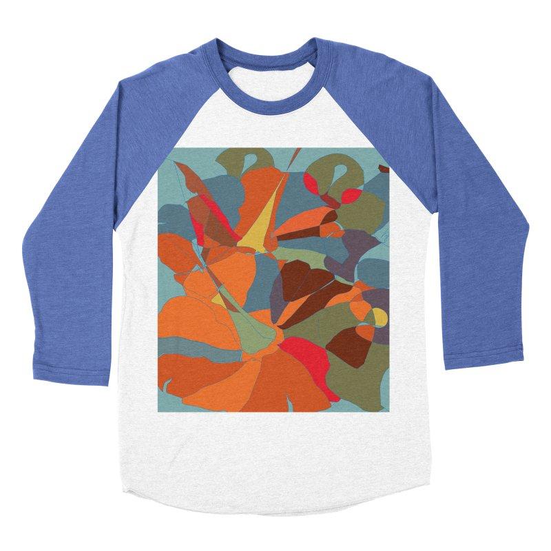 Pumpkin abstract Women's Baseball Triblend Longsleeve T-Shirt by snapdragon64's Shop
