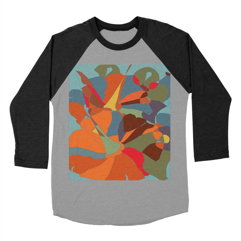 Pumpkin abstract Women's Baseball Triblend Longsleeve T-Shirt by snapdragon64's Shop