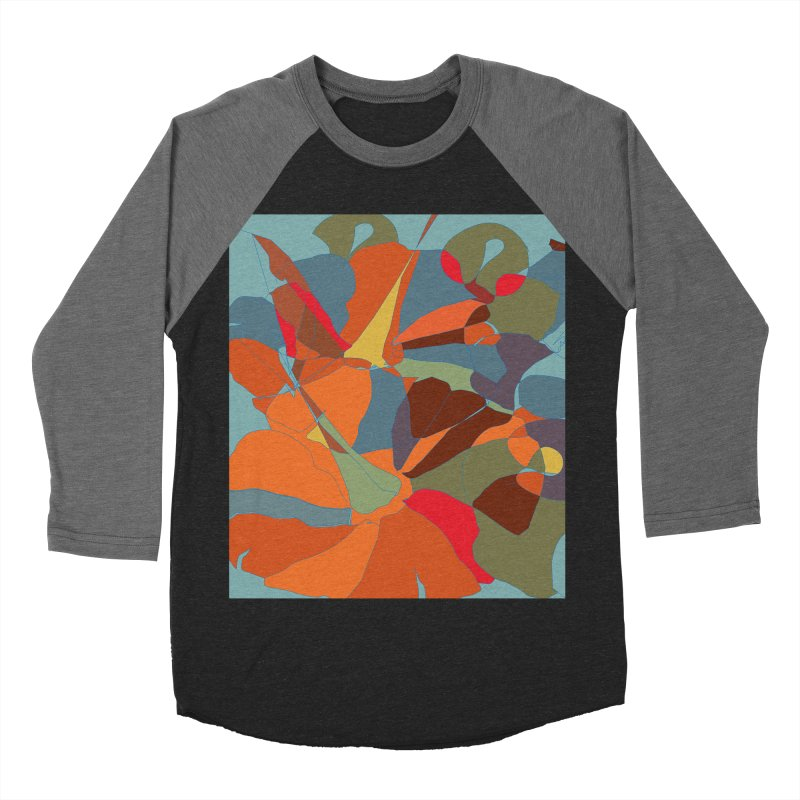 Pumpkin abstract Men's Baseball Triblend Longsleeve T-Shirt by snapdragon64's Shop