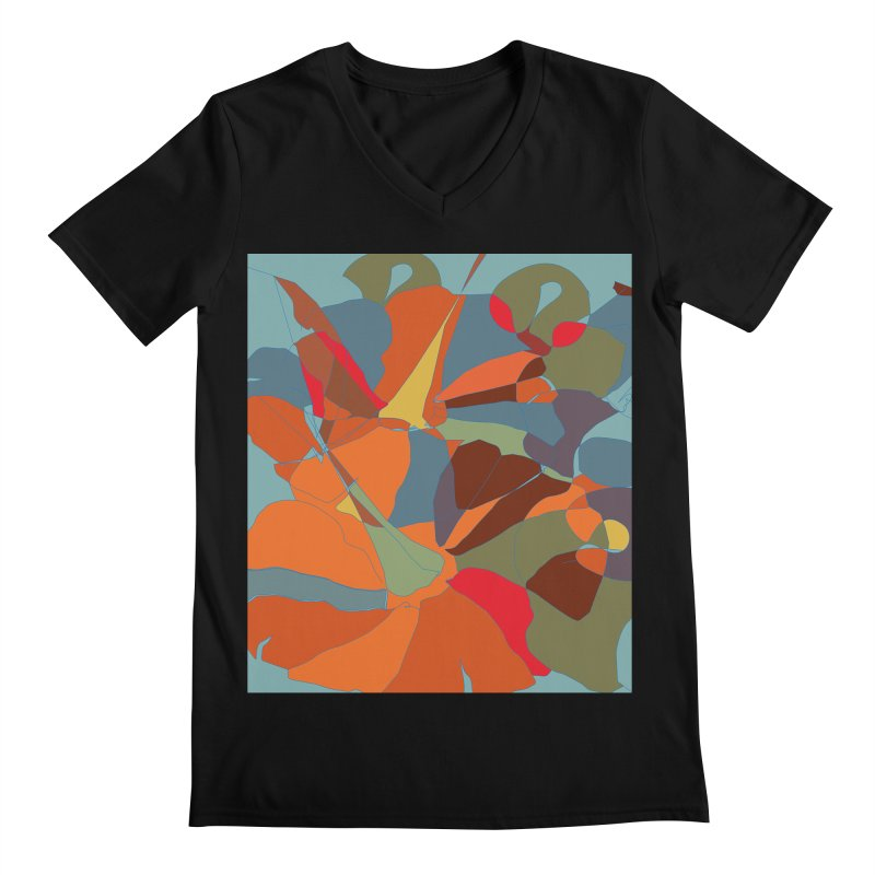Pumpkin abstract Men's Regular V-Neck by snapdragon64's Shop