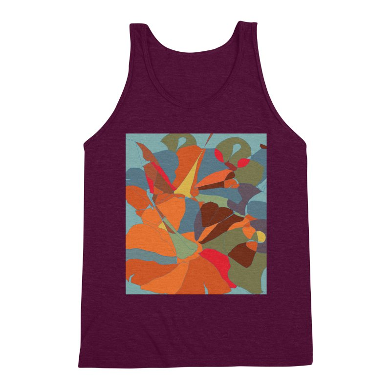 Pumpkin abstract Men's Triblend Tank by snapdragon64's Shop