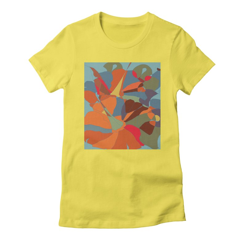 Pumpkin abstract Women's Fitted T-Shirt by snapdragon64's Shop