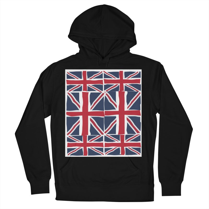 Union Jack pattern Men's French Terry Pullover Hoody by snapdragon64's Shop