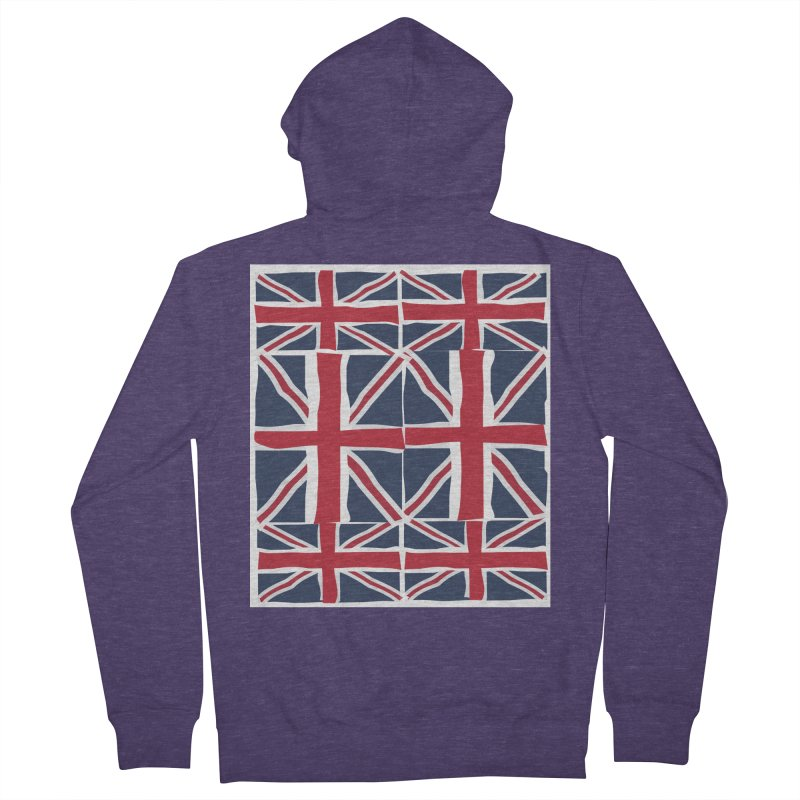Union Jack pattern Men's French Terry Zip-Up Hoody by snapdragon64's Shop