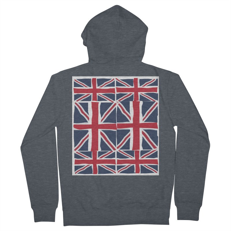 Union Jack pattern Men's Zip-Up Hoody by snapdragon64's Shop