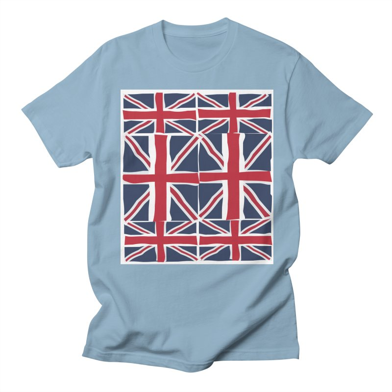 Union Jack pattern Men's Regular T-Shirt by snapdragon64's Shop