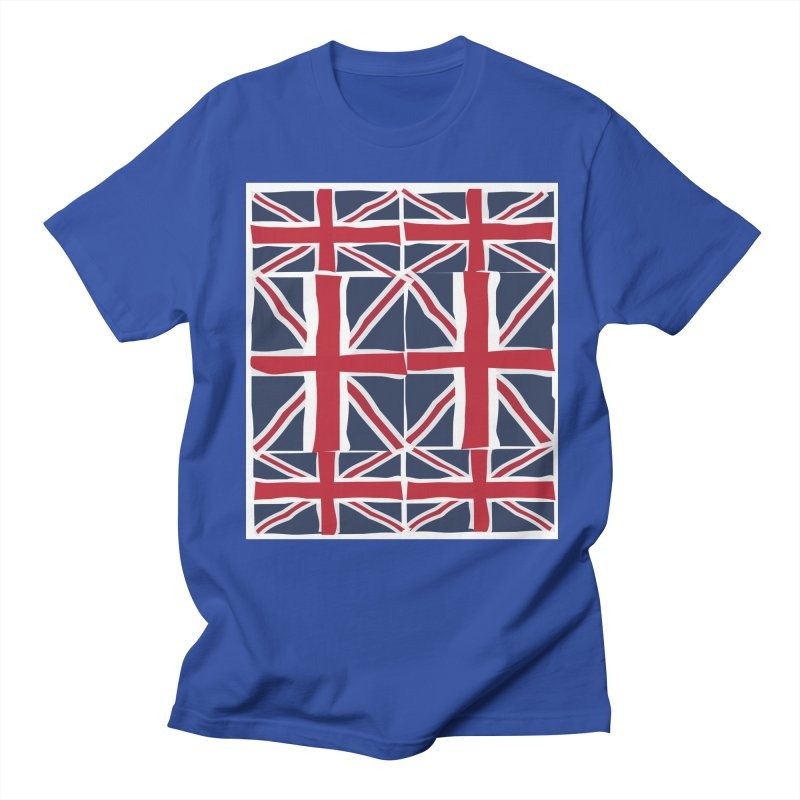 Union Jack pattern Men's T-shirt by snapdragon64's Shop