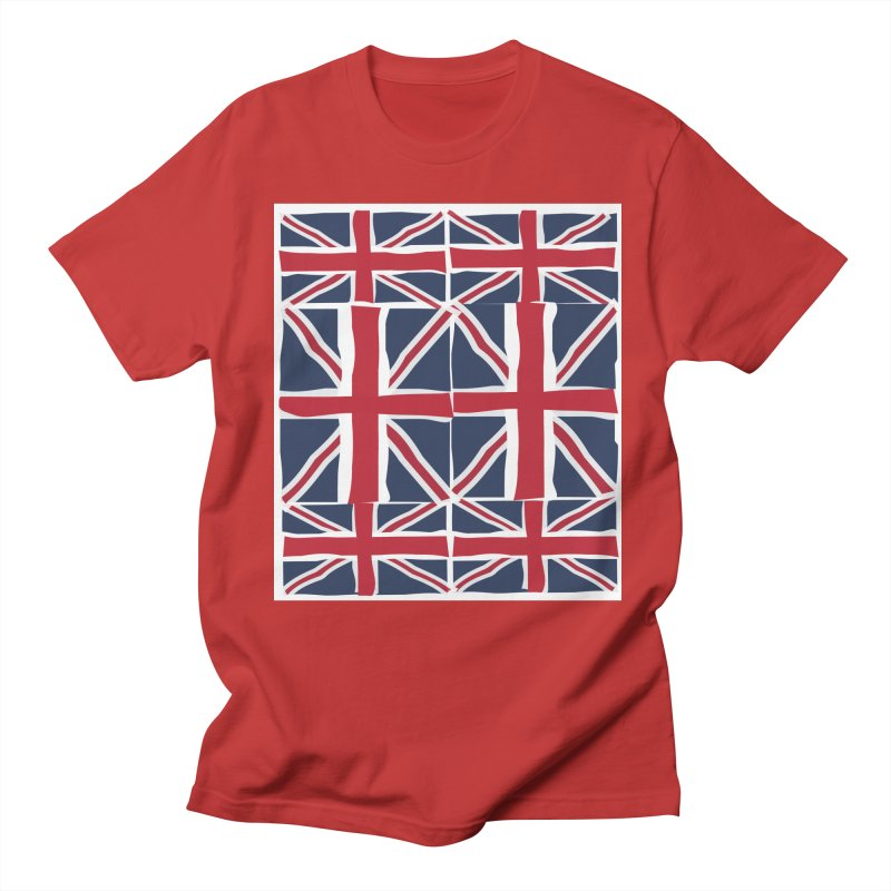 Union Jack pattern Men's Regular T-Shirt by snapdragon64's Shop
