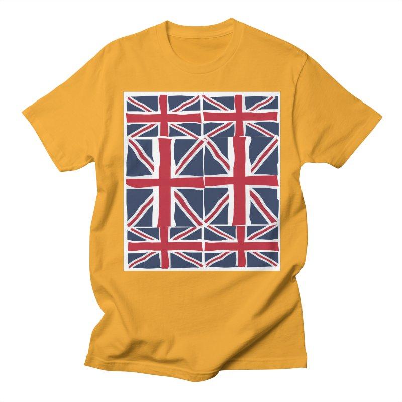 Union Jack pattern Men's T-Shirt by snapdragon64's Shop