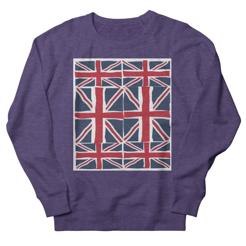 Union Jack pattern Men's French Terry Sweatshirt by snapdragon64's Shop