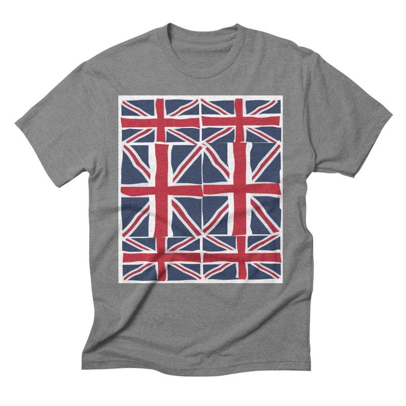 Union Jack pattern Men's Triblend T-shirt by snapdragon64's Shop