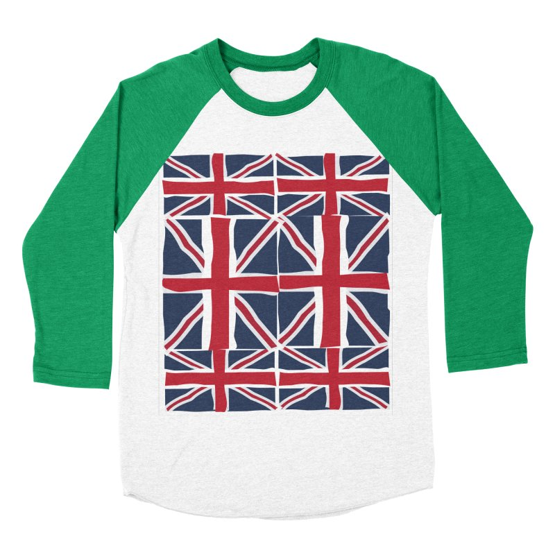 Union Jack pattern Women's Baseball Triblend Longsleeve T-Shirt by snapdragon64's Shop