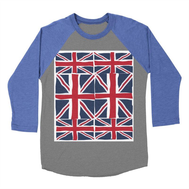 Union Jack pattern Women's Baseball Triblend Longsleeve T-Shirt by snapdragon64's Shop