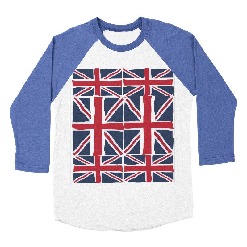Union Jack pattern Men's Baseball Triblend Longsleeve T-Shirt by snapdragon64's Shop