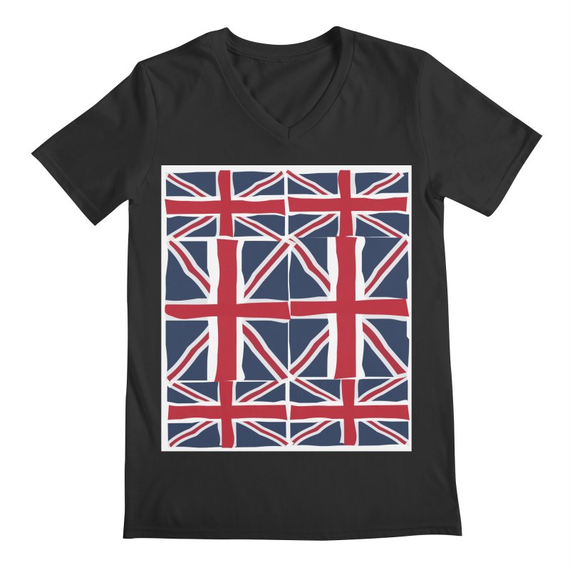 Union Jack pattern Men's V-Neck by snapdragon64's Shop