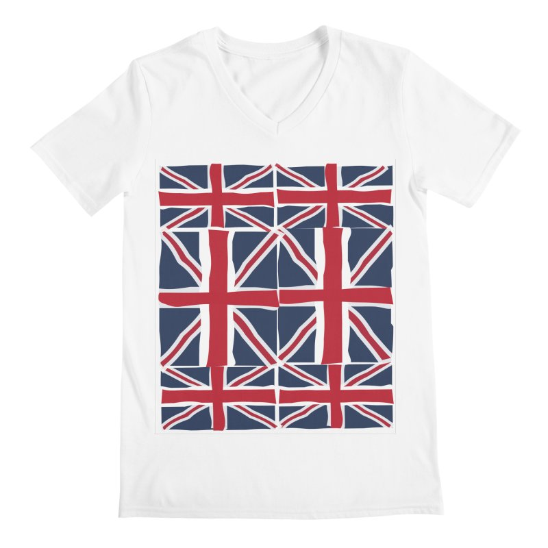 Union Jack pattern Men's Regular V-Neck by snapdragon64's Shop