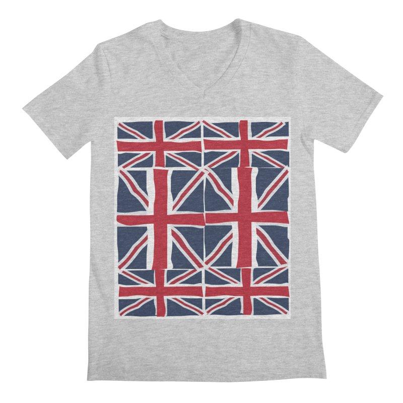Union Jack pattern Men's V-Neck by snapdragon64's Shop