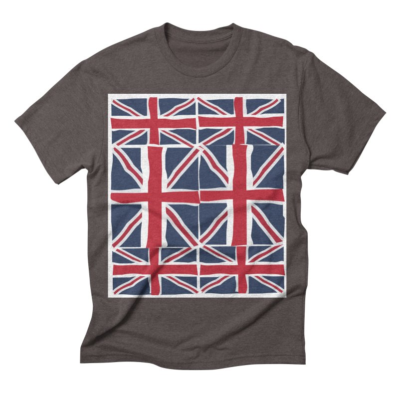 Union Jack pattern Men's Triblend T-shirt by snapdragon64's Shop