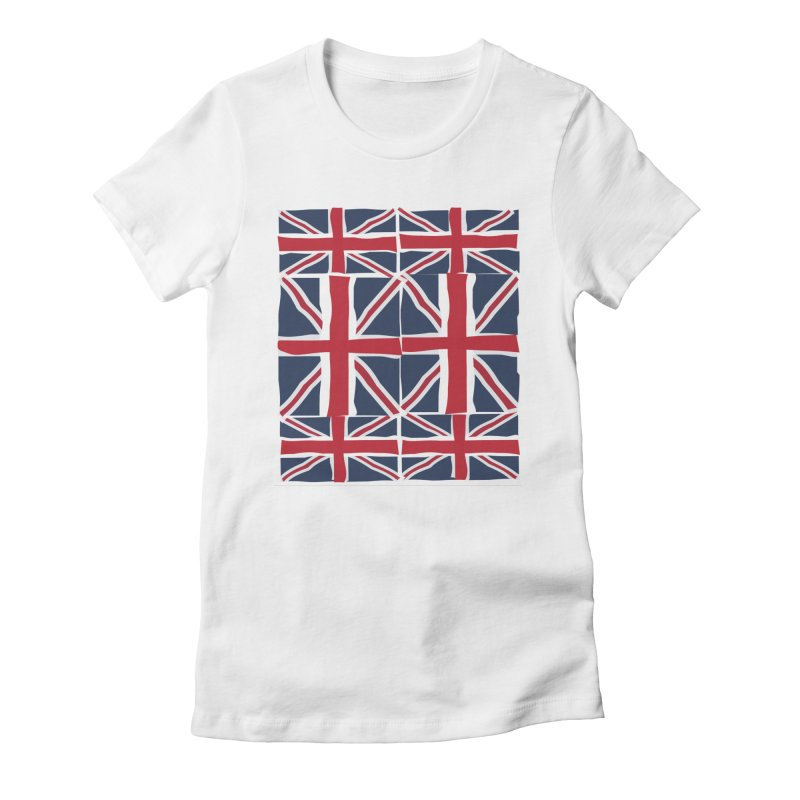 Union Jack pattern Women's Fitted T-Shirt by snapdragon64's Shop