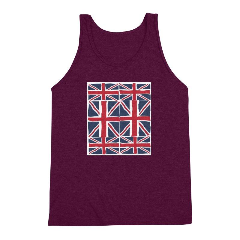 Union Jack pattern Men's Triblend Tank by snapdragon64's Shop