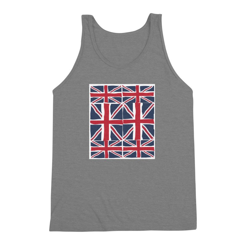 Union Jack pattern Men's Triblend Tank by snapdragon64's Shop
