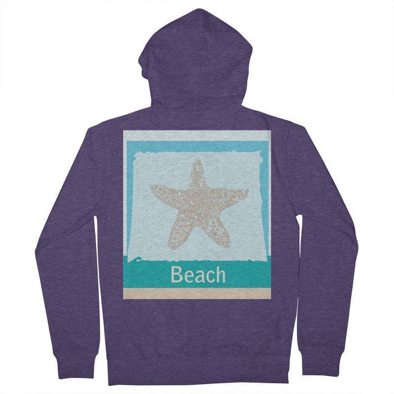 Beach Men's Zip-Up Hoody by snapdragon64's Shop