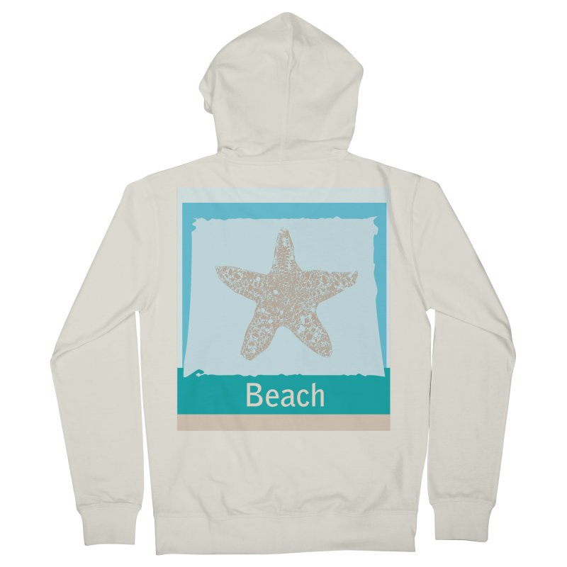 Beach Men's French Terry Zip-Up Hoody by snapdragon64's Shop