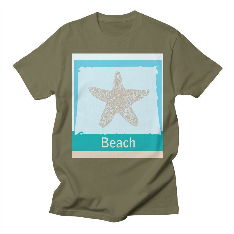 Beach Men's Regular T-Shirt by snapdragon64's Shop