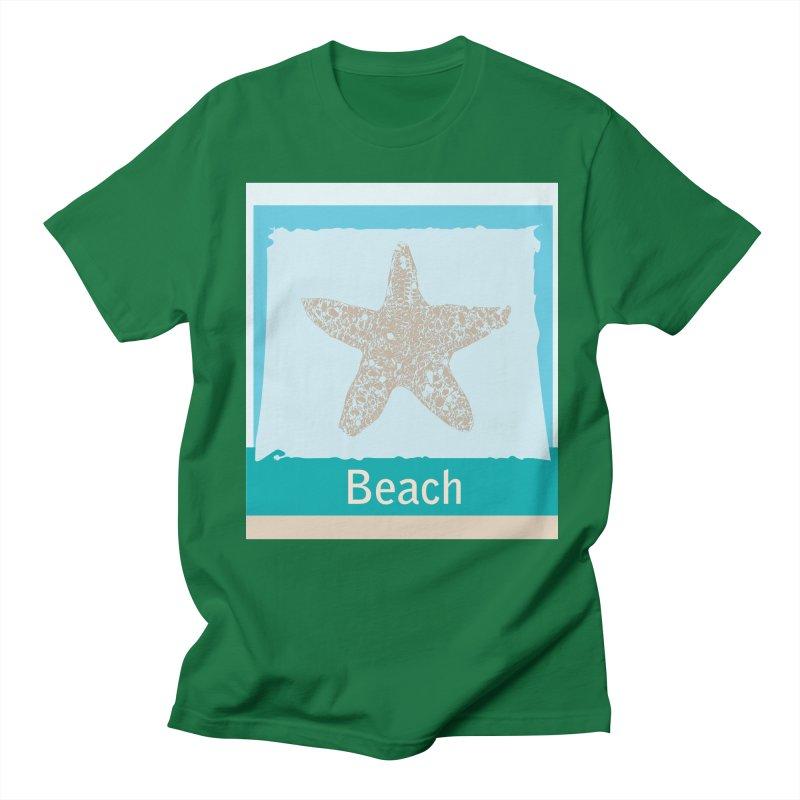 Beach Men's Regular T-Shirt by snapdragon64's Shop