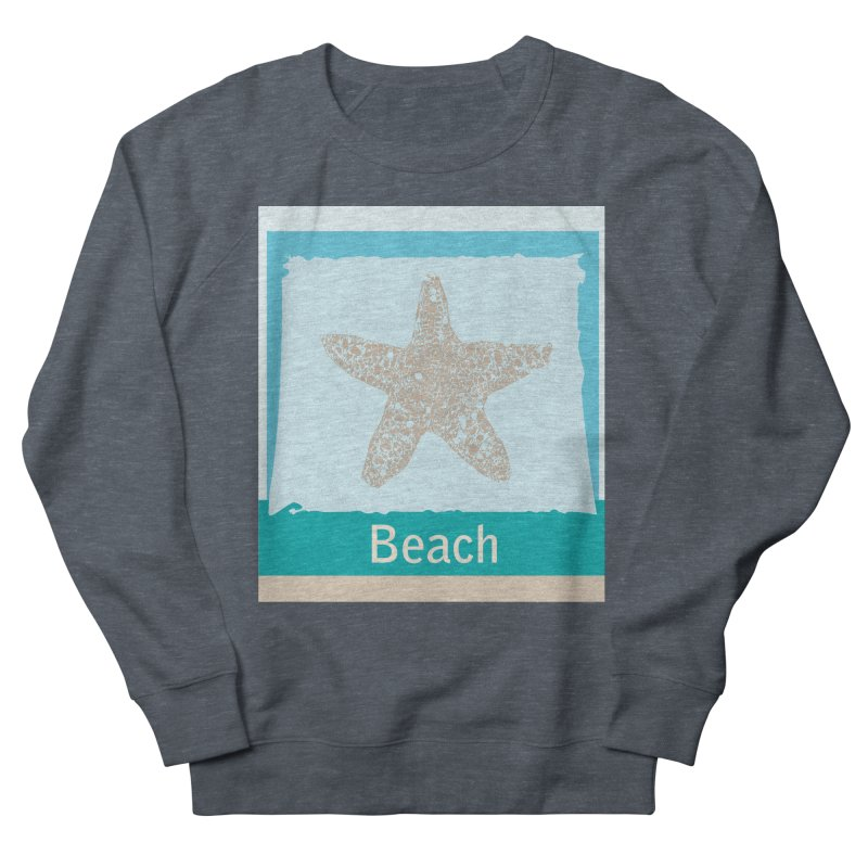 Beach Men's French Terry Sweatshirt by snapdragon64's Shop