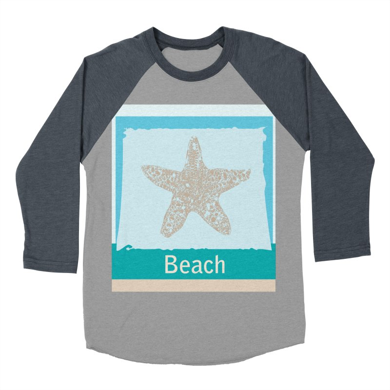 Beach Men's Baseball Triblend T-Shirt by snapdragon64's Shop