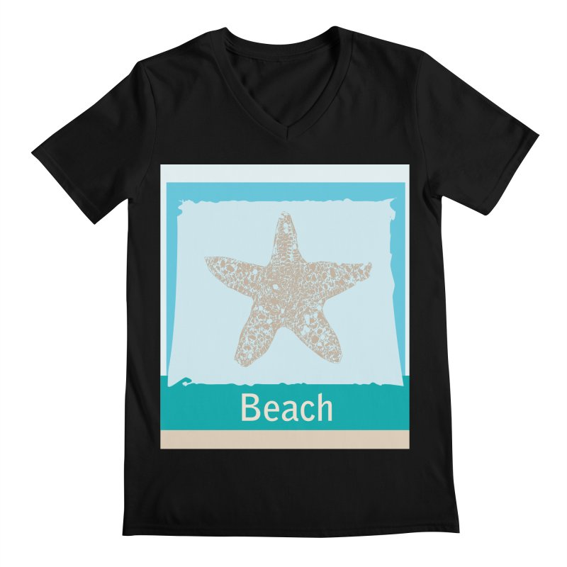 Beach Men's Regular V-Neck by snapdragon64's Shop