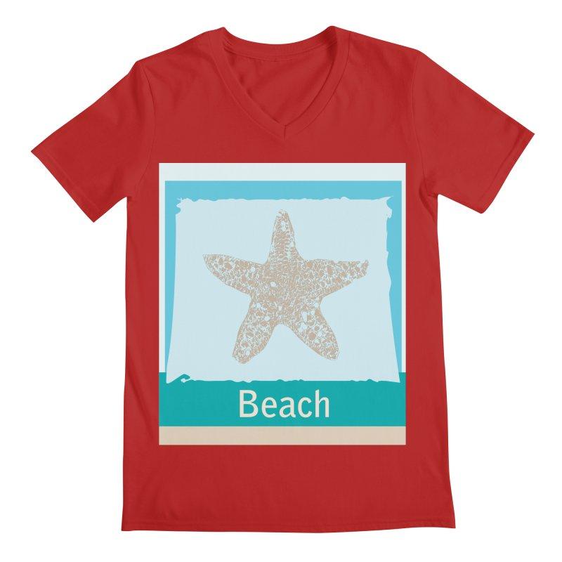 Beach Men's V-Neck by snapdragon64's Shop